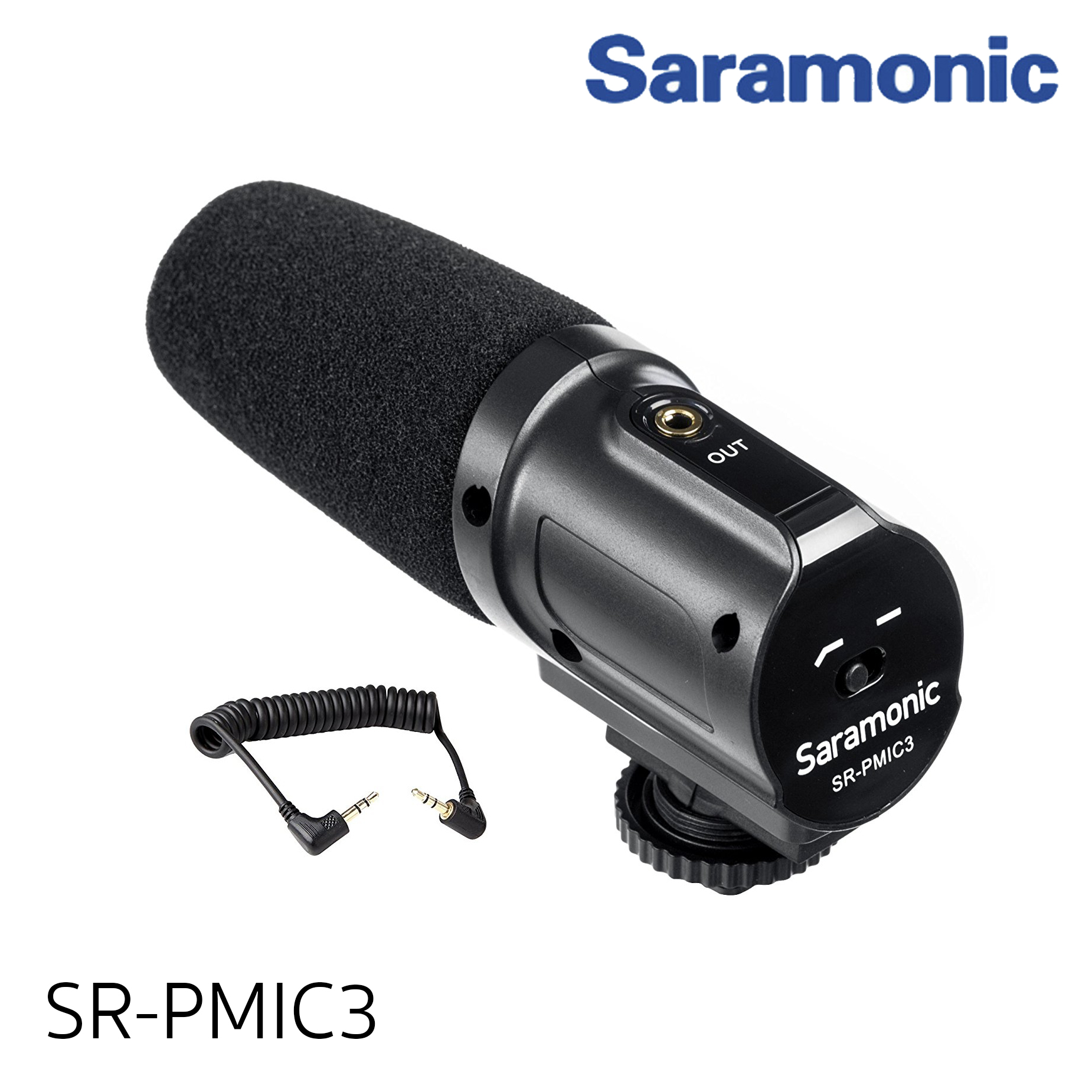Saramonic SR-SR-PMIC3 Surround Recording Microphone with Integrated Shockmount, Low-Cut Filter & Battery-Free Operation for DSLR Cameras & Camcorders