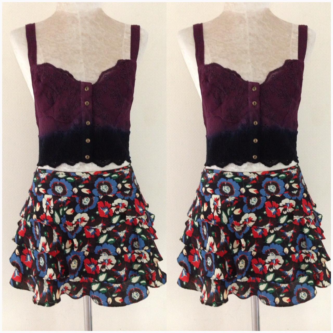 Topshop Floral Skirt Size Uk8