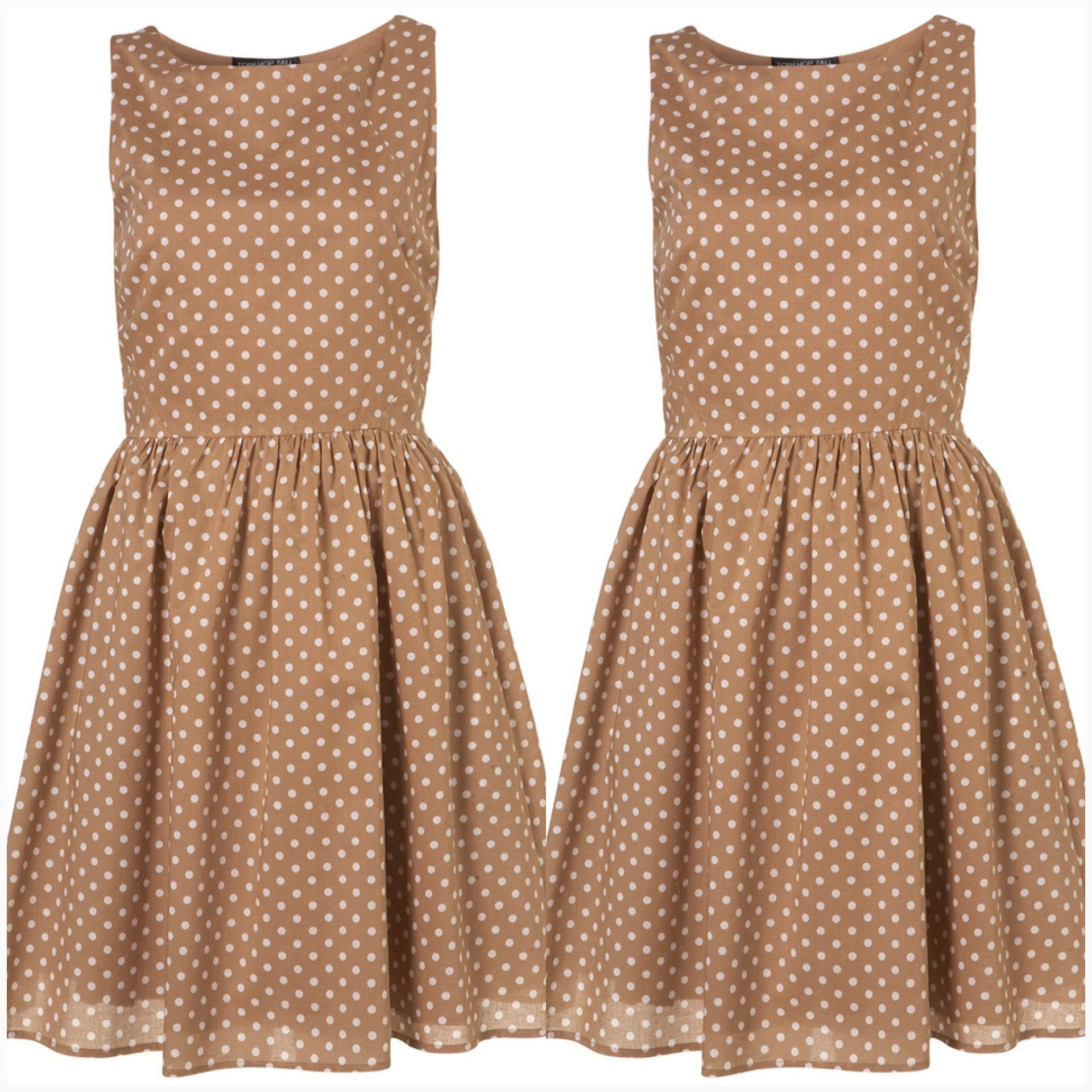 Topshop Polkadot dress Size Ukุ 6-8