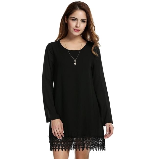 ชุดเดรส Chiffon Vestidos (Black)